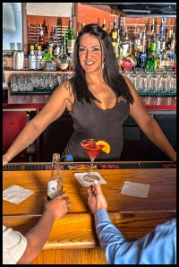Bartender Christy-Lee Carter Photo Credit © Chester Simpson