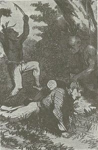 Thomas' Legion Scalping Yankees, from Adventures of Daniel Ellis the Union Guide 1868