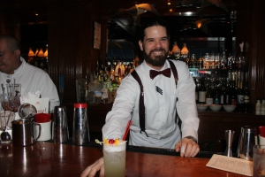 Sean serves up his new concoction the Elder Tom. It is a new twist on the traditional Tom Collins – Bar Hill Gin, St. Germaine and fresh sour mix. Shake these ingredients together and pour into a Collins glass and top it off with a splash of club soda!