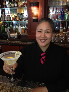 "Joie serves the ever-requested ""Perfect Lemon Drop"" made with fresh squeezed lemon juice and a spiral twist!"