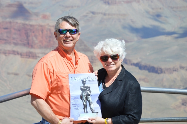 "Lee Anne Fuller and her husband Frank took the Old Town Crier ""On the Road"" to the Grand Canyon. While Frank has owned a place in Alexandria for over 4 years, he and Lee Anne just became permanent residents of Old Town this spring. ""We love your magazine,"" states Frank. We love it that you love our magazine as well!"