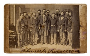 Champ Ferguson with his prison guards, 1865