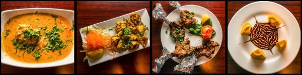 Goan Shrimp Curry, Kukhura Ko Sekuwa (Chicken), Tandoori Lamb Chops, Kulfi; Rich Indian ice cream with Mango