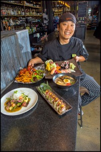 Chef Oh Young at Streets Market & Cafe