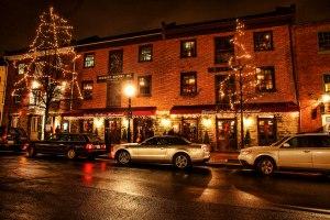 Alexandria, Virginia at Night during Christmas 2011