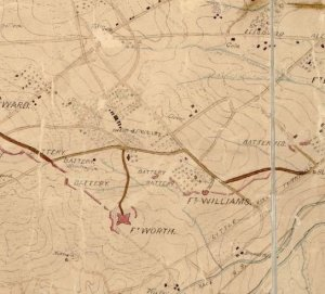 civil-discourse-map-of-federal-fortifications-on-seminary-ridge