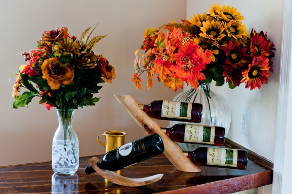 Flowers and Wine (Molon Lave Vineyards)